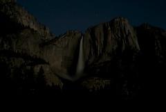 Yosemite Moonlight (Bay Area Biking Nikon) Tags: water night waterfall moonlight yosemitenationalpark