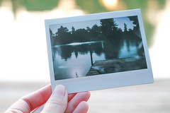picture in a picture (amandapanda) Tags: lake pier instantfilm digitalshot instaxwide pictureception