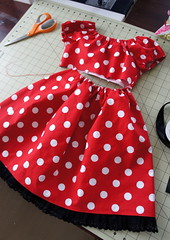 Princess SAL - Minnie Mouse (Cut To Pieces) Tags: red dress princess dressup disney mickeymouse minniemouse polkadot childrensclothes prettyprincess cuttopieces prettyprincesssewalong