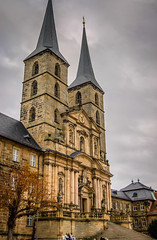 Michaelsberg Abbey Bamberg Germany (mbell1975) Tags: old cloud fall abbey germany bayern deutschland town cathedral cloudy dom or kirche eu chapel bamberg monastery german benedictine altstadt oldtown michaels kloster deutsch kirke kapelle michelsberg bayer michaelsberg michaelskirche