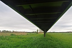 Bridge over the Meadows (Nikki & Tom) Tags: uk grass landscape meadows cambridgeshire britishcountryside stneots landscapecountryside footcyclebridge
