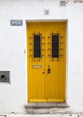 Door (Hans van der Boom) Tags: europe portugal algarve vacation holiday albufeira door wood yellow pt