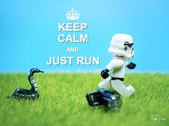 Bad Luck Monday (XINYAW13) Tags: star wars stormtrooper lego snake running minifigure grass green fear toy toyphotography