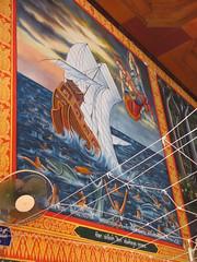 Wat Wang Singkham - sinking ship painting (eltpics) Tags: eltpics thailand buddhist buddhism religion wat decoration sinking drowning sinkingship ship painting