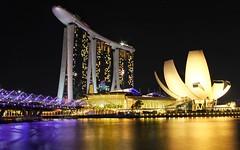 Marina Bay Sands, Singapore (Mark C of Syd) Tags: night singapore marinabaysands longexposure canon markc landscape
