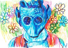 PROYECTO 132-4 (GARGABLE) Tags: gente diversidad angelbeltrn apuntes lpicesdecolores sketch drawings dibujos gargable fleurs margaritas colores 123 4 gargableangelbeltrn