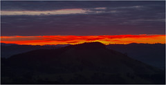 fire in the sky (Pwa25) Tags: sky sunrise strathcreek victoria country orange hills mountains morning