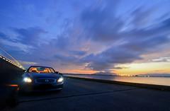 Sunset Scene at Shinji (Yohsuke_NIKON_Japan) Tags: nissan infiniti g37 infinitig37 skyline auto car matsue shinji lakeshinji shimane lakeside sunset dusk d600 1635mm longexposure   headlight lighting sanin japan