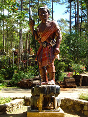 Baguio Botanical Garden (lukedrich_photography) Tags: sony dscw55 sonydscw55 hdr philipines   pilipinas     republikangpilipinas republicofthephilippines asia southeast southeastasia pacific island baguio botanical garden igorotvillage cordillera statue warrior display landmark history culture tourist