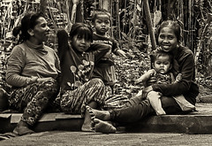 Bali 15 (kruser1947 (all killer no filler)) Tags: monochrome bali indonesia people children street