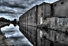 Northern powerhouse (Tryppyhead) Tags: buildings northwestengland england hdr nikond7200 canal castletonrochdale rochdale reflection industrial 2016 summer
