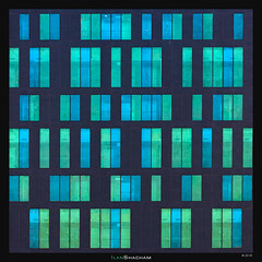 Blue-Green Code (Ilan Shacham) Tags: windows abstract color blue green architecture random geometry square rectangle window fineart fineartphotography building telaviv israel
