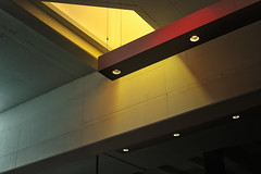 Puits de lumire (JJ Micheli) Tags: 50mmf17 imagegraphique k1 ladefense paris2016 paysageurbain pentaxk1 pentaxsmca50mmf17 quartierdaffaire smcpentaxa50mmf17 architecturephotography graphicpicture iledefrance photographiedarchitecture puitdelumirejaune 2016 50mm archi architecture cityscape hdr paris pentaxart ambiance ambiancecinematique batiments building ceilinglamp city closeup contrast contraste effetcinematique graphic graphique immeubles lamp plafonnier red reflet sciencefiction tours urban vertical ville yellow yellowskylight