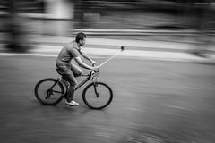 Selfie on 2 wheels (Mustafa Selcuk) Tags: riding bikes bikers sb siyahbeyaz streetphotography street monochromatic monochrome bw bnw blackandwhite selfie 16mm 2016 fujifilm xpro2