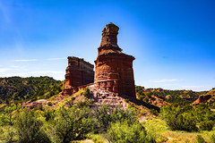 _40A4570 (ChefeGrande) Tags: texas statepark palo duro canyon lighthouse silhouette landscape rockformation rock trail hiking outdoor pandhandle