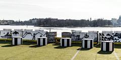 Pid silmll... (Jori Samonen) Tags: cafe ihana seats graffiti water sea trees tervasaari buildings ice breaker katajanokka cloudy sompasaari helsinki finland nikon d3200 350 mm f18 nikond3200 350mmf18
