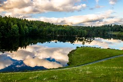 Tarn Hows (Kuba Abramowicz) Tags: lake lakes district cumbria uk english england water reflection reflections clouds cloud cloudy landscape landmark reflect green greenness forest tree trees travel trekking nikon nikkor nature national park d610 2470 composition north northern east