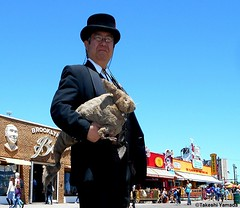 Dr. Takeshi Yamada and Seara (Coney Island Sea Rabbit) at the Coney Island Beach in Brooklyn, New York on June 9, 2016. 20160609Thu DSCN6466=0020pmrC2, Coney Island Beach (searabbits23) Tags: searabbit seara takeshiyamada  taxidermy roguetaxidermy mart strange cryptozoology uma ufo esp curiosities oddities globalwarming climategate dragon mermaid unicorn art artist alchemy entertainer performer famous sexy playboy bikini fashion vogue goth gothic vampire steampunk barrackobama billclinton billgates sideshow freakshow star king pop god angel celebrity genius amc immortalized tv immortalizer japanese asian mardigras tophat google yahoo bing aol cnn coneyisland brooklyn newyork leonardodavinci damienhirst jeffkoons takashimurakami vangogh pablopicasso salvadordali waltdisney donaldtrump hillaryclinton endangeredspecies save