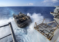 160825-N-TO519-098 (Photograph Curator) Tags: amphibiousreadygroup lhd1 sailors training usnavy usswasp wasparg aircushion landingcraft operations welldeck mediterraneansea