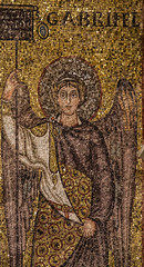 St Gabriel in Ravenna (Lawrence OP) Tags: saints gabriel mosaic santapollinareinclasse