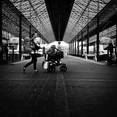 station (s_inagaki) Tags: station platform baby mother helsinki finland