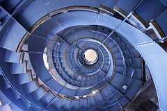 - monday blues - (Jacqueline ter Haar) Tags: glasgow thelighthouse whitebalance blue stairs spiral staircase