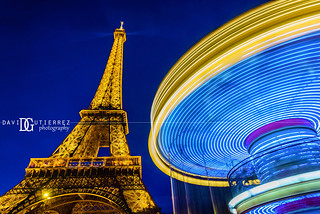 Eiffel Tower and Carousel, Paris, France