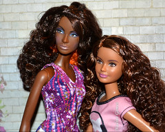 Best friends (Nadine Gomes) Tags: barbie top model muse nikki nichelle hair wear doll 2007 fashionistas skipper 2015 petite 24 crazy for coral