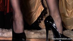 2 (opulentfetish) Tags: pantyhose highheels longhair blackhair goddesscheyenne pov rearend ass crotchless dungeon zipper breasts skirt posing bra legs legshow closeup atlantadominatrix opulentfetish