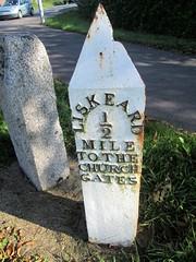 Milepost Liskeard half a mile Church Gates (Bridgemarker Tim) Tags: cornishmileposts milestones liskeard ianthompson milestonesociety