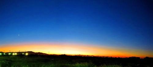 Ocaso. Escena Occidental /Sunset.  Western Scene.