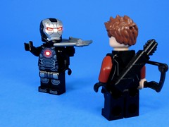 Like the Update? (MrKjito) Tags: lego minifig super comic comics marvel cinmeatic unviers war machine hawkeye clint rhodes