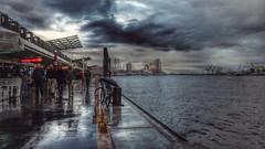 Rainy sunday (DiSorDerINaMirrOR) Tags: hamburg germany deutschland harbour landungsbrücke elbe elbphilarmonie elba river clouds sky architecture rain rainy autumn cold october north water hafen