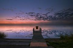 Marl lake fall foggy sunrise (wiltsepix) Tags: marl lake michigan sunrise dock water fog