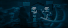 ro sham bo! (jooka5000) Tags: cinematic widescreen stormtroopers starwars trashcompactor game lego blue deathstar cinematiclego trashes rockpaperscissors 123 cinematictoyphotography storytellingscene scene