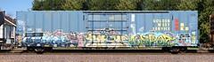 Keptoe/Kush/Gspot (quiet-silence) Tags: graffiti graff freight fr8 train railroad railcar art keptoe kush gspot ca sts tmo bck boxcar miniridge goldenwest drgw50863