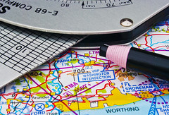 Chinagraph Pencil... (ST-251) Tags: ppep macro mondays flying computer chart air map chinagraph pencil e6 e6b icao shoreham parham gliding airport navigation planning route ford arundel southern england dead reckoning whiz wheel analogue flight plannnng airnav plan glider fixed wing training macromondays