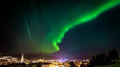 Trondheim's Northern Light (ervega) Tags: norther light trondheim auroras aurora boreal boreales norway noruega sky cielo estrellas luces stars city ciudad night noche