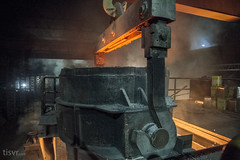 All Your Steel: Molten bucket (UJMi) Tags: iron lahore pakistan steel steelmill fire industrial night sony nex nex7 electric furnace smelter hardwork ironwork idustry