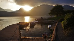 Evening Sun At Inversnaid (brightondj - getting the most from a cheap compact) Tags: scotland trossachs inversnaid fifthwalk sunset sun light lochlomond harbour boats arrocharalps summer2016 holiday summerholiday uk britain ukholiday