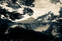 Fujisan (Kawaguchiko, Japan) (Heikki Matti Aaltonen) Tags: 2016 nikon d610 fx japan kawaguchiko mtfuji fujisan lake 2485mm bw oldstyle old nature