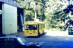 Slide 079-70 (Steve Guess) Tags: cobham surrey england gb uk lcbs london country aec swift sm nigel newsbus theadvertiser bus museum redhillroad