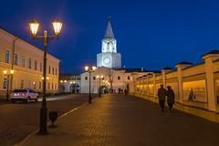 Kazan Kremlin by Night (Oleg.A) Tags: autumn sunset street twilight city kazan russia evening tatarstan oldtown town  respublikatatarstan ru