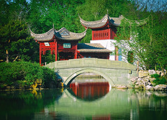 Chinese Garden (A Great Capture) Tags: canada canadian photographer northamerica ash2276 ashleylduffus ald mobilejay agreatcapture agc wwwagreatcapturecom adjm montral montreal mtl qc quebec botanical gardens jardin botanique chinese chinesegarden architecture friendshiphall water pond bridge