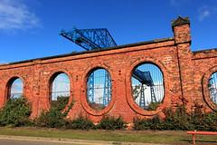 Tees Transporter Bridge & the Vulcan Street Wall (Mike.Dales) Tags: middlesbrough rivertees transporterbridge vulcanstreetwall victorian industry salt ironmasters
