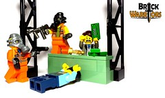 Too Easy (BrickWarriors - Ryan) Tags: brickwarriors custom lego minifigure weapons helmets armor gas mask frag grenade combat pistol gangster smg bank heist robbers modern city