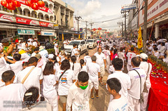 Street+procession+at+Phuket+Vegetarian+Festival.+October%2C+2016.+Phuket%2C+Thailand