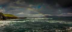 Without the rain there would be no Rainbow. (Ian Emerson) Tags: dramitic scotland scenic landscape rainbow sea seascape island staffa boat choppy clouds storm rain raindrops sunlight sunny weather canon 1018mm wideangle