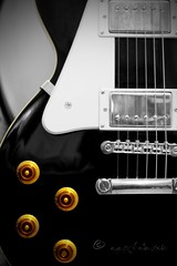 (ggcphoto) Tags: electric guitar black white color music guitarstrings buttons guitarlove