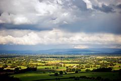 Cheshire Plain (h_cowell) Tags: cheshire cheshireplain alderneyedge view landscape sky clouds drama green fields light sunlit sunlight shadow trees hills horizon panasonic gx7 zoom uk appicoftheweek nikefex
